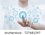 smart home automation control... | Shutterstock . vector #727681297