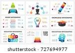 vector arrows infographic ... | Shutterstock .eps vector #727694977
