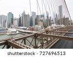 new york  lower manhattan... | Shutterstock . vector #727696513