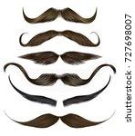 set vector mustache different... | Shutterstock .eps vector #727698007