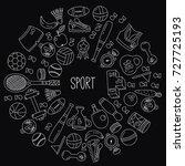 sport fitness wellness icons... | Shutterstock .eps vector #727725193