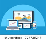 data management  data center ... | Shutterstock .eps vector #727725247