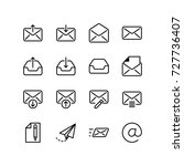 email and internet icon set | Shutterstock .eps vector #727736407