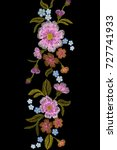 embroidery trend floral... | Shutterstock .eps vector #727741933
