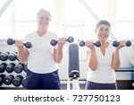 senior women in gym