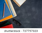 book glasses and pencil on the... | Shutterstock . vector #727757323