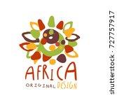 original african tribal doodle... | Shutterstock .eps vector #727757917