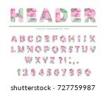 modern vibrant font. stylized... | Shutterstock .eps vector #727759987