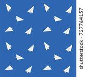 pattern paper airplane   white... | Shutterstock . vector #727764157