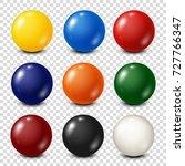 lottery  billiard pool balls... | Shutterstock .eps vector #727766347