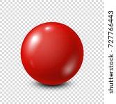red lottery  billiard pool ball.... | Shutterstock .eps vector #727766443