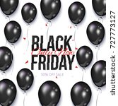 black friday sale banner  flyer ... | Shutterstock .eps vector #727773127