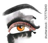 eye. watercolor illustration | Shutterstock . vector #727776043