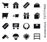 16 vector icon set   cart  gift ... | Shutterstock .eps vector #727777903