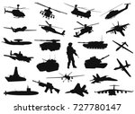 Vector Military Silhouettes...