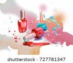nail polish on abstract... | Shutterstock . vector #727781347