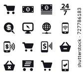 16 vector icon set   cart ... | Shutterstock .eps vector #727786183