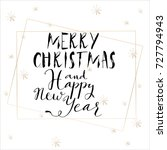 lettering with merry christmas. ... | Shutterstock .eps vector #727794943