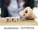 start success business new year ...   Shutterstock . vector #727795753