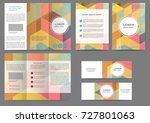 set of color abstract brochure...   Shutterstock .eps vector #727801063