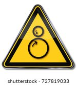 danger rollers  pulling in and...   Shutterstock . vector #727819033