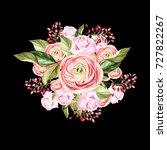 beautiful bright watercolor...   Shutterstock . vector #727822267