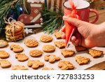 icing process of christmas... | Shutterstock . vector #727833253