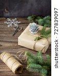 christmas gift box. christmas...   Shutterstock . vector #727839097