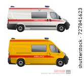 white and yellow ambulance... | Shutterstock .eps vector #727841623
