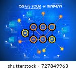 business infographic layout | Shutterstock .eps vector #727849963