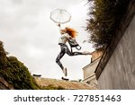 outdoors lifestyle portrait of... | Shutterstock . vector #727851463