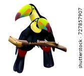 two keel billed toucans sitting ... | Shutterstock .eps vector #727857907
