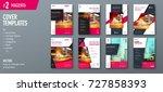 set of cover design template... | Shutterstock .eps vector #727858393