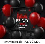 black friday sale background... | Shutterstock .eps vector #727864297