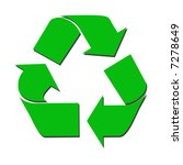 recycle sign with green color | Shutterstock . vector #7278649