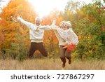 senior couple having fun in... | Shutterstock . vector #727867297