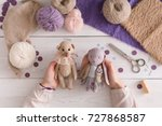 process of making vintage toy ... | Shutterstock . vector #727868587
