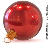 christmas ball red decoration... | Shutterstock . vector #727881067