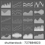 business chart collection. set... | Shutterstock .eps vector #727884823