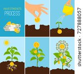 investments process and... | Shutterstock .eps vector #727888057