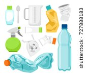 plastic waste collection on... | Shutterstock .eps vector #727888183