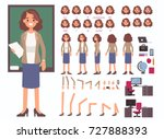 teacher woman character... | Shutterstock .eps vector #727888393