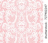 white lace seamless pattern... | Shutterstock .eps vector #727902247