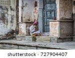 pushkar  india   february 28 ... | Shutterstock . vector #727904407