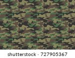 camouflage seamless pattern... | Shutterstock .eps vector #727905367
