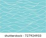 beautiful wave line pattern... | Shutterstock .eps vector #727924933