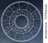 astrology and horoscopes... | Shutterstock . vector #727926163