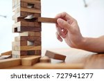 group of friends playing blocks ... | Shutterstock . vector #727941277