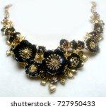vintage black and gold flower... | Shutterstock . vector #727950433