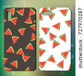 sweet juicy whole watermelon on ... | Shutterstock .eps vector #727970287
